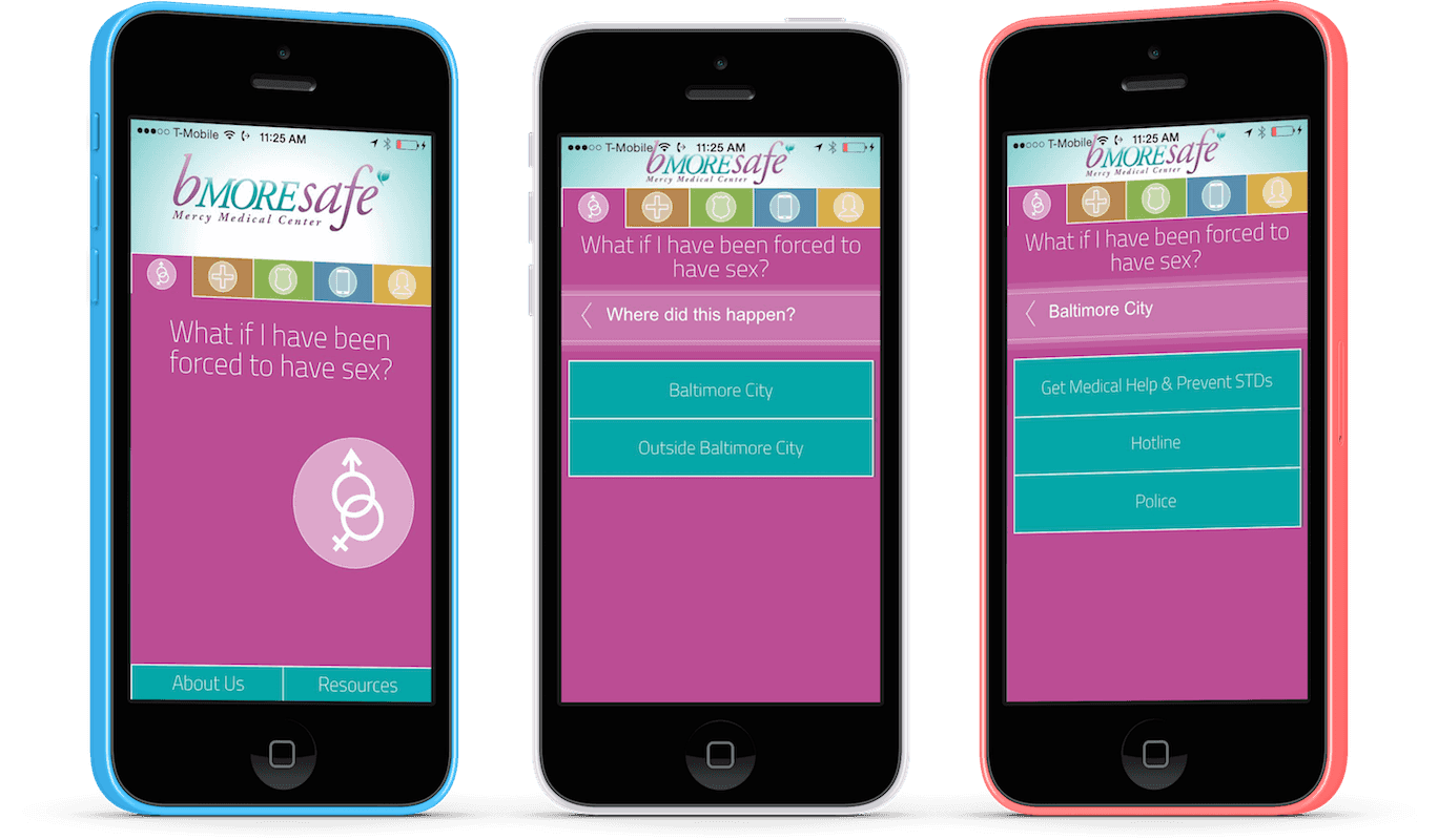 The bMOREsafe app is designed to help victims of sexual or domestic assault.